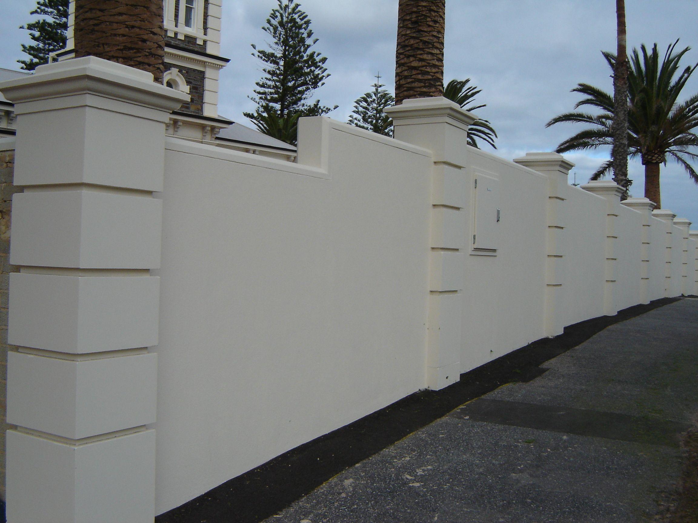 brick wall fence design ideas - Google Search   House ...