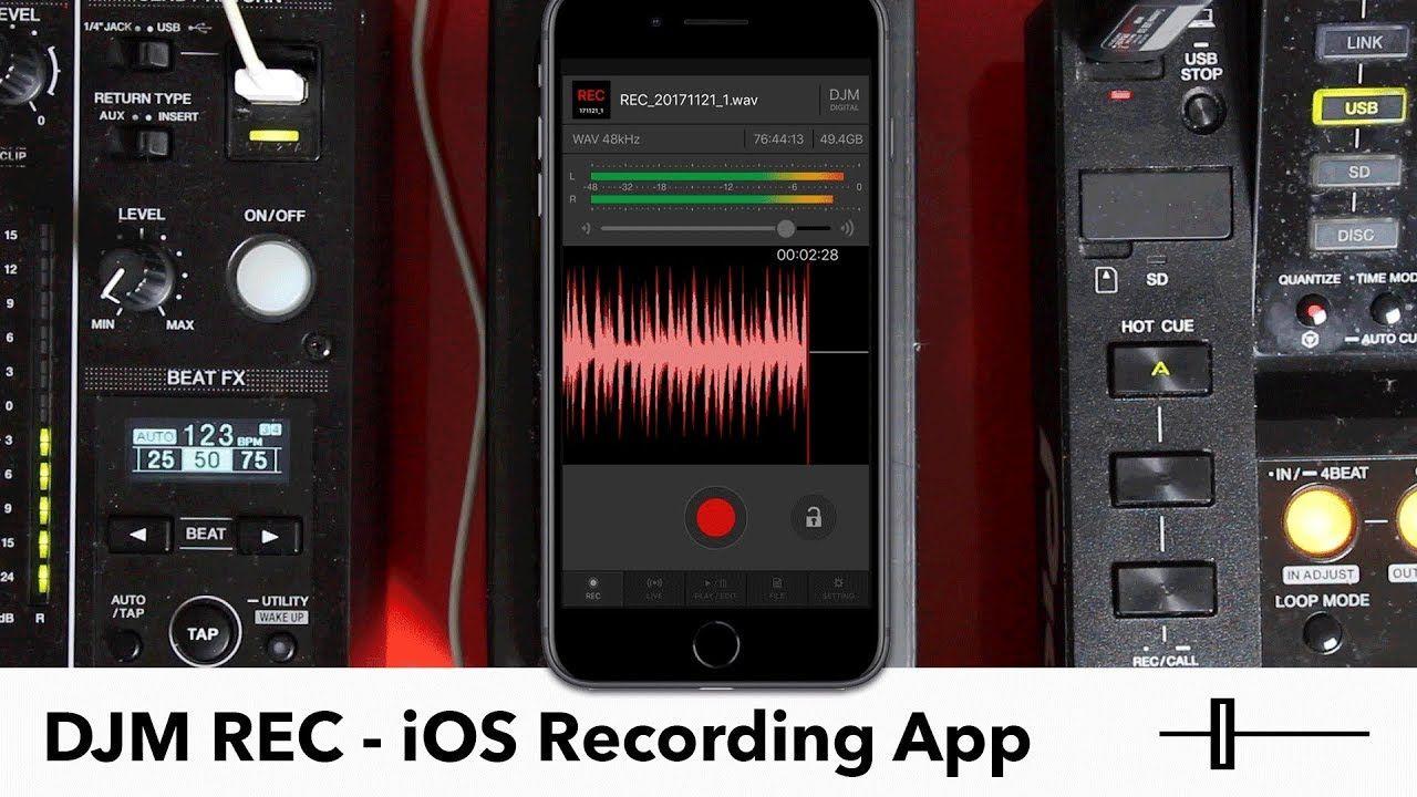 DJM REC Overview Pioneer DJ's iOS Recording App