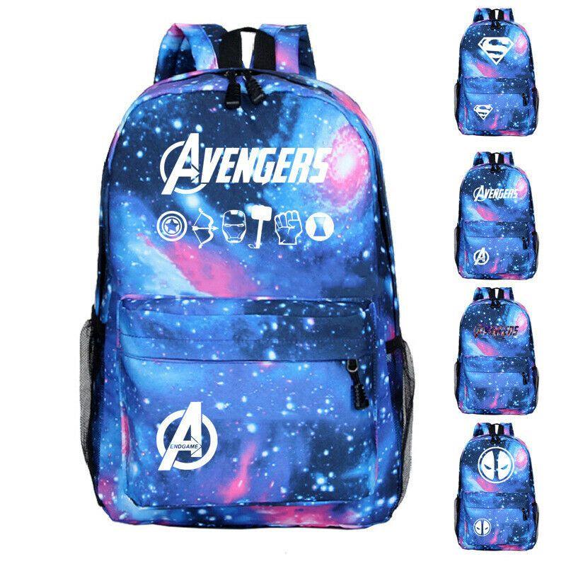 """Marvel Black Panther Backpack 16/"""" School Book Bag Tote Avengers Travel Bag"""