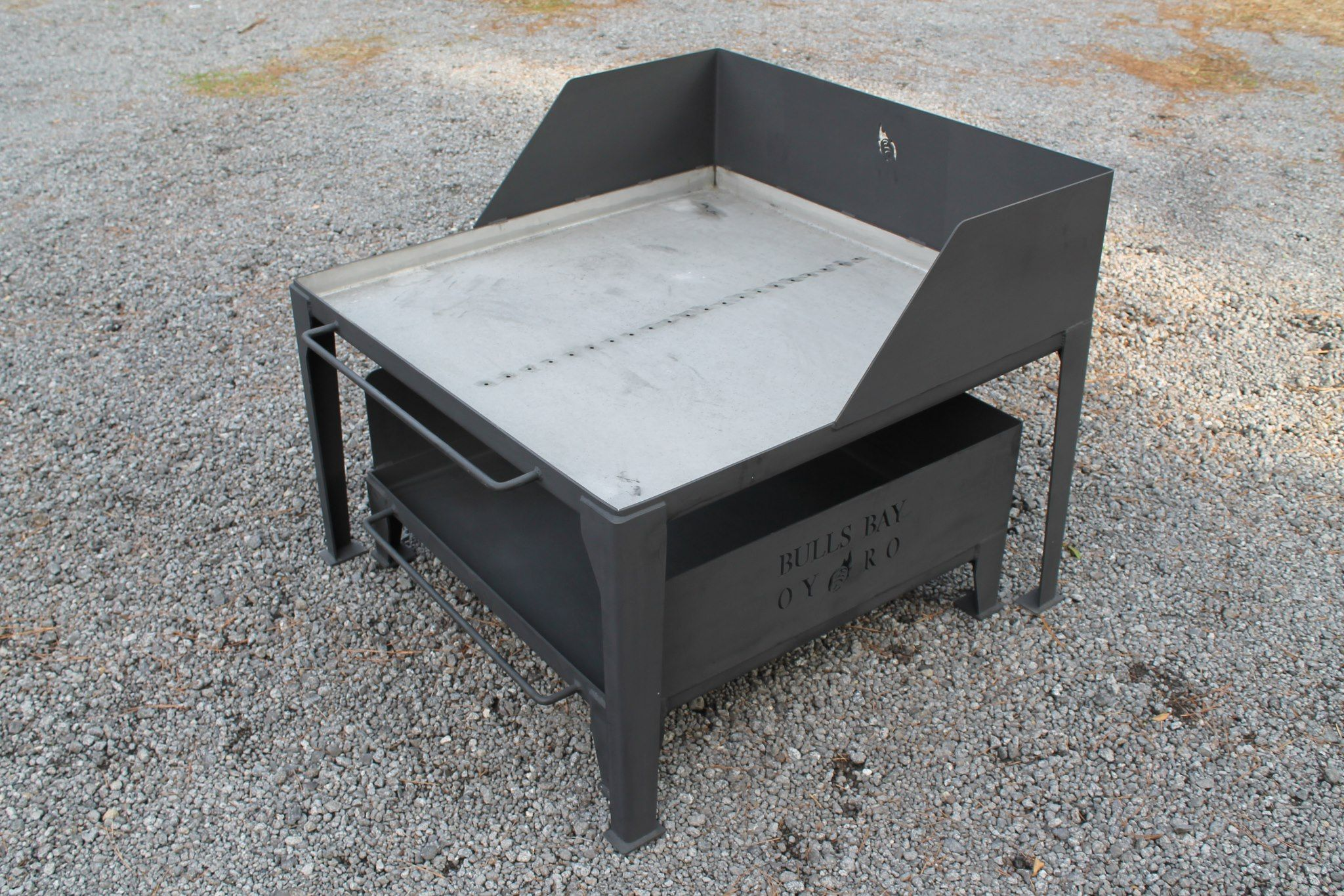 oyster cooker by bulls bay oyster roasts with fire pit designed by