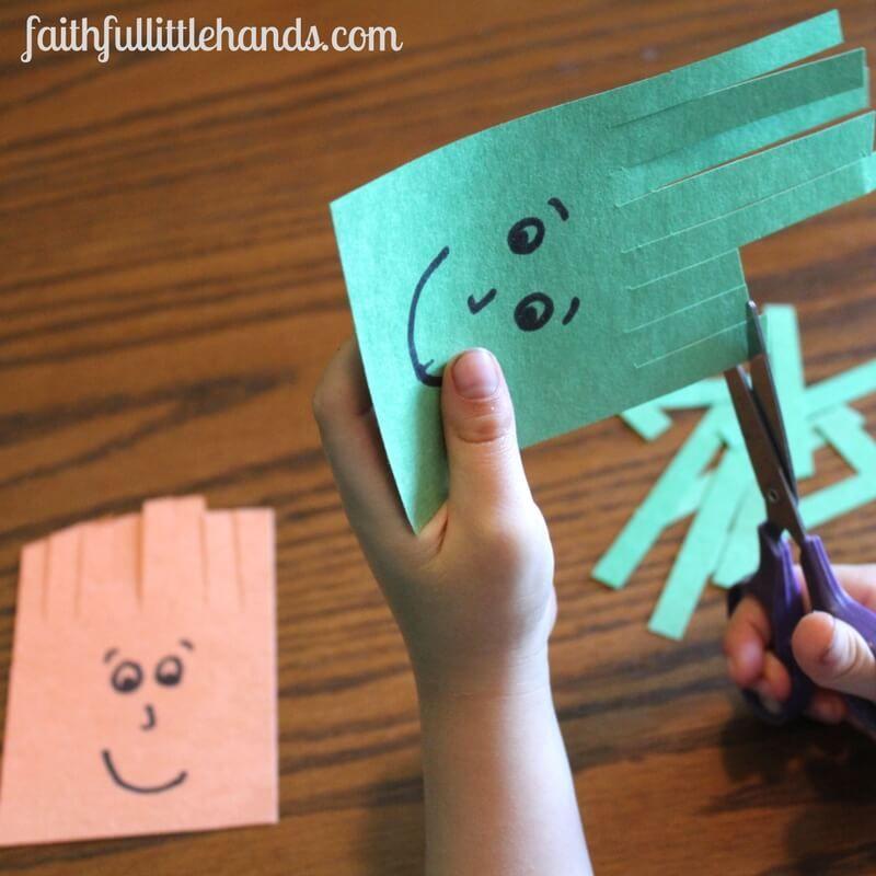Scissors Practice: Samson Haircuts Activity - Toddler Bible Crafts