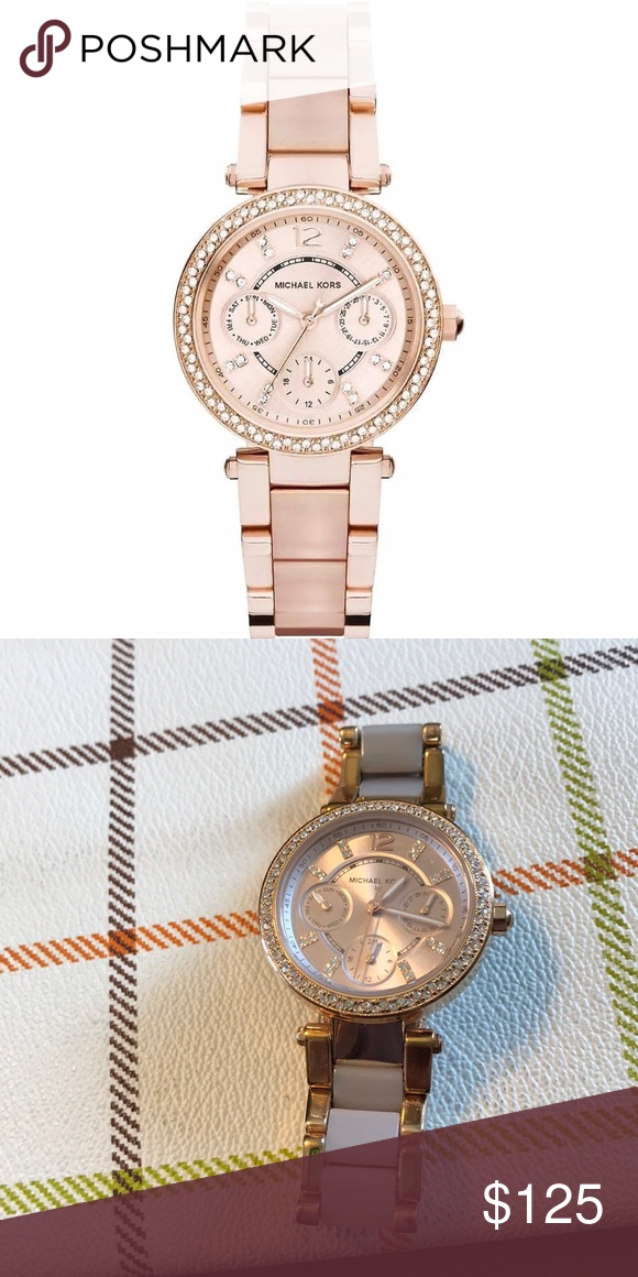 41149c93f969 Michael Kors Ladies Watch 🎉🎉 Temporary Price Drop 🎉❤ Michael Kors Ladies Mini  Parker Chronograph Watch MK 6110. Rose Gold Michael Kors Accessories ...