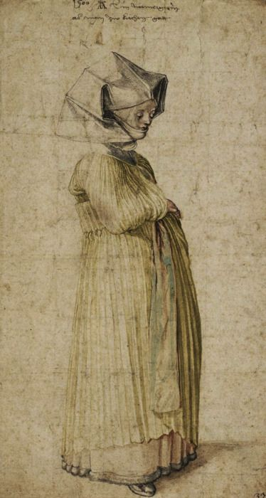 Albrecht Dürer - A woman from Nuremberg dressed for church (1500).