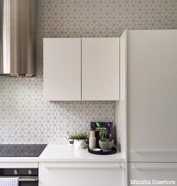 Diamond Tiles Kitchen Makeover Kitchen Makeover Before After Kitchen Kitchen Backsplash Tile Designs