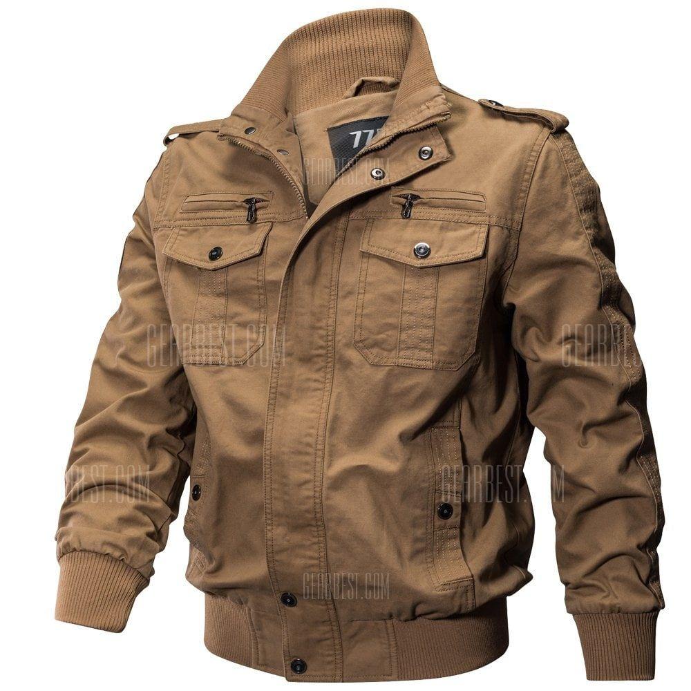 d23e8b476ce QIQICHEN US Size Autumn Cotton Casual Men s Jacket in 2019