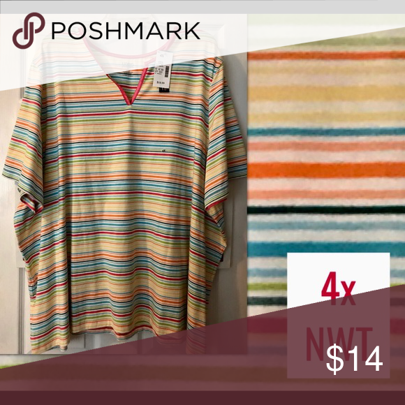 0654ad53848 💗Plus size - (4X) Pretty, Colorful striped shirt 🌈Plus Size - (4X ...