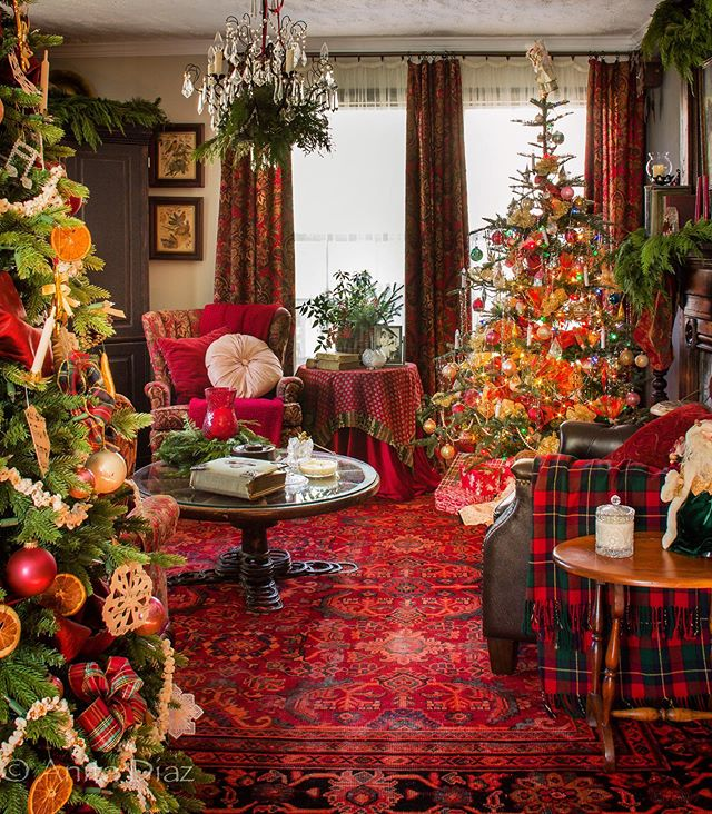 Christina Tom Beneath The Eaves Instagram Photos And Videos In 2020 Victorian Christmas Decorations Christmas Decorations Bedroom Farmhouse Christmas