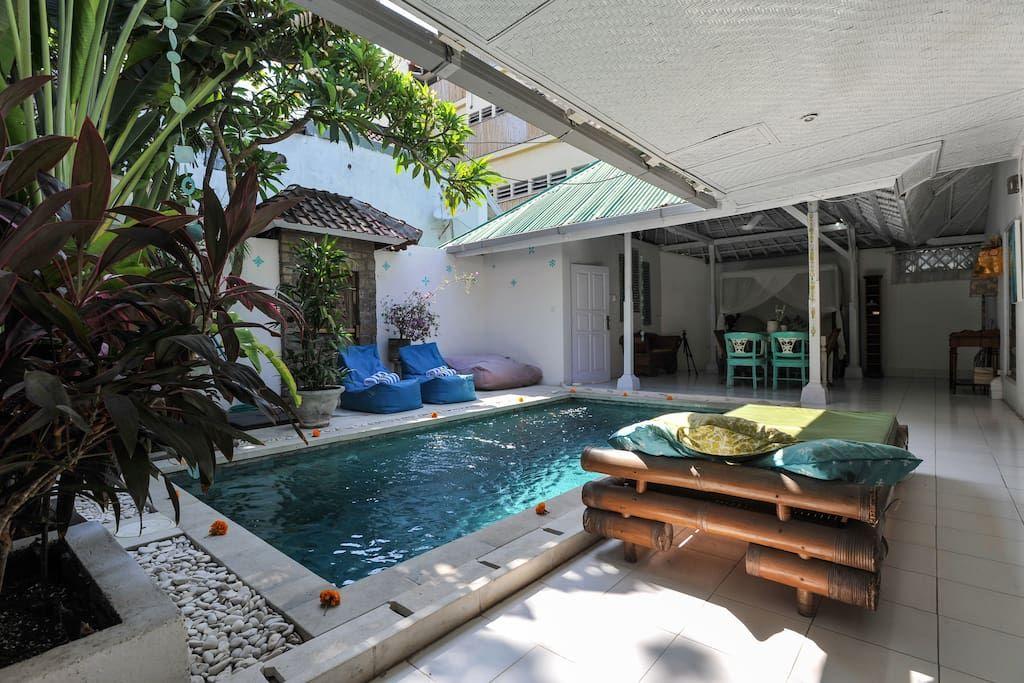 Private Family Love Villa4 Close To 66beach Bali Villy V Arendu V G Legian Bali Indoneziya Nebolshie Dvorovye Bassejny Villa Bali