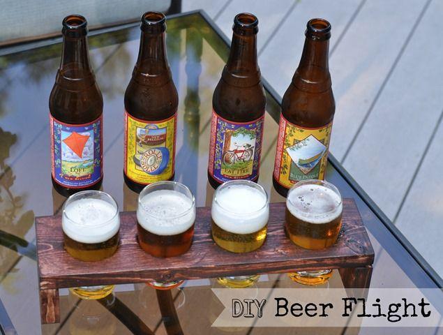 Treat Dad to a beer tasting using this DIY Beer Tasting Flight tutorial!