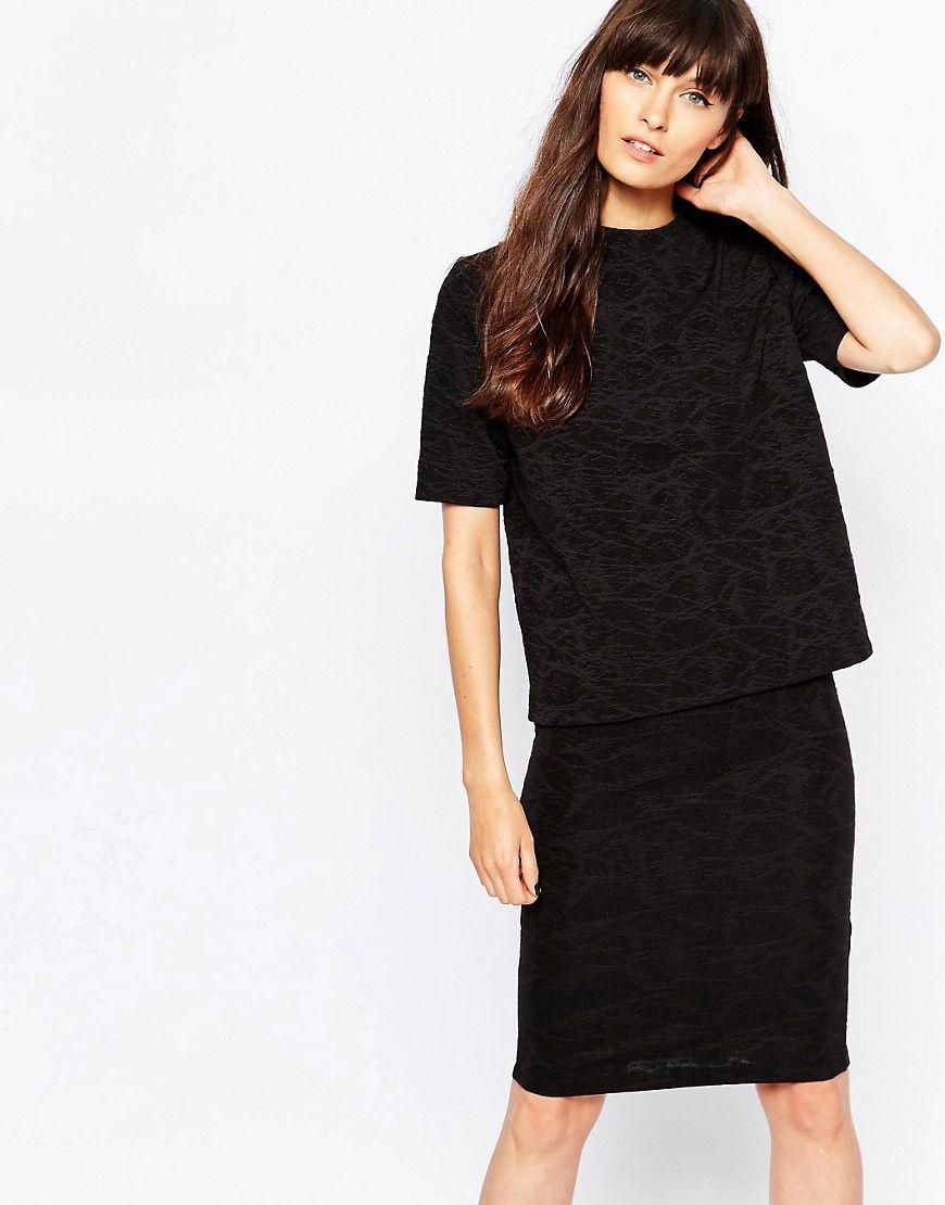 Super lækre Selected Tira 2/4 Top - Black Selected Designer Brands til Damer i behagelige materialer