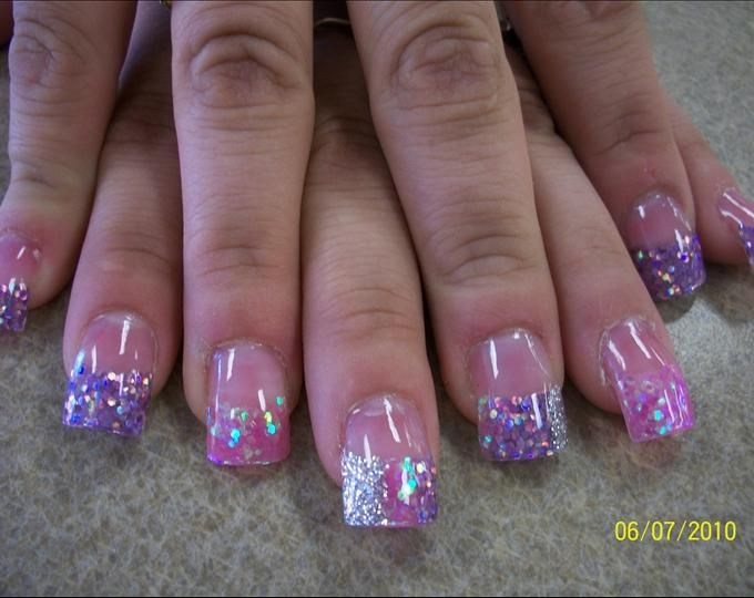 pink tip nails designs on pinterest nail pink and purple