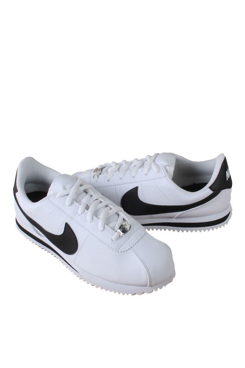 Nike grade school white black cortez basic sl (gs) 904764-102 ... 131d6581f