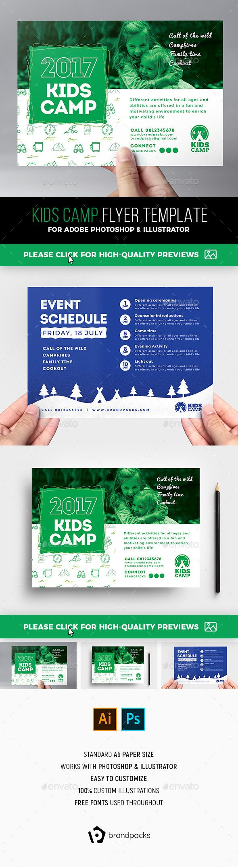 Kids Camp Flyer Template | Campamento