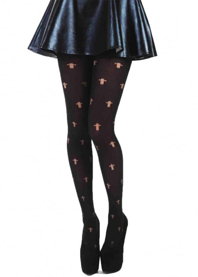 548548f19d9 Opaque Cross Gothic Tights