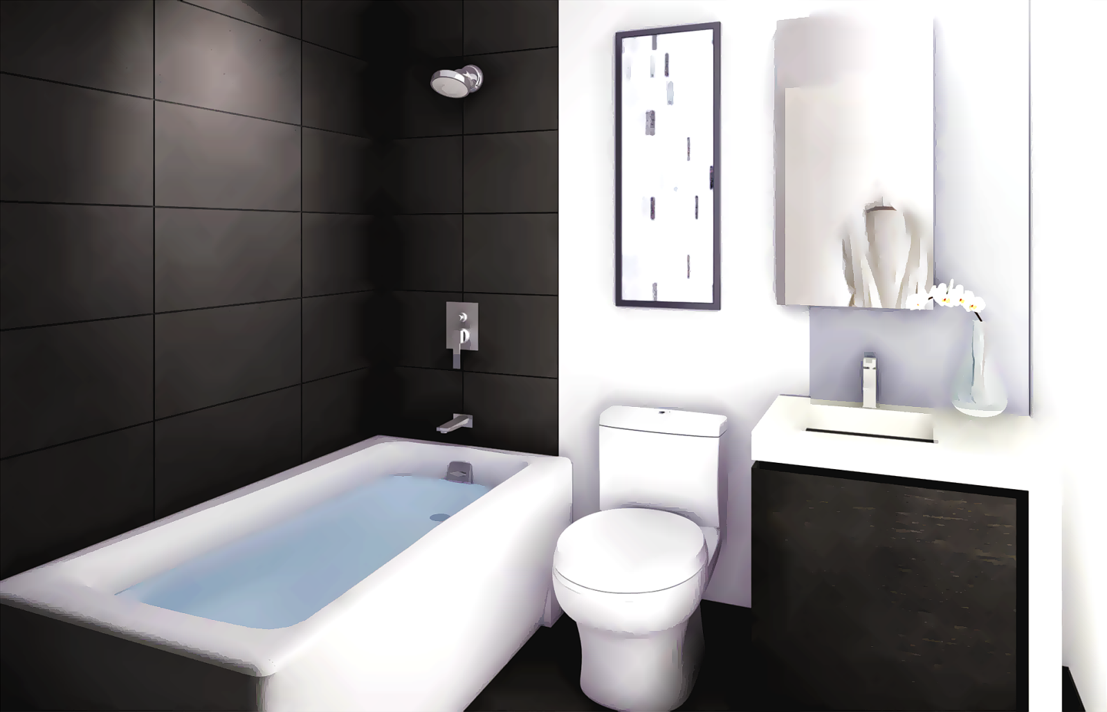 Digital Art Gallery Small Bathroom Remodel Ideas and Design
