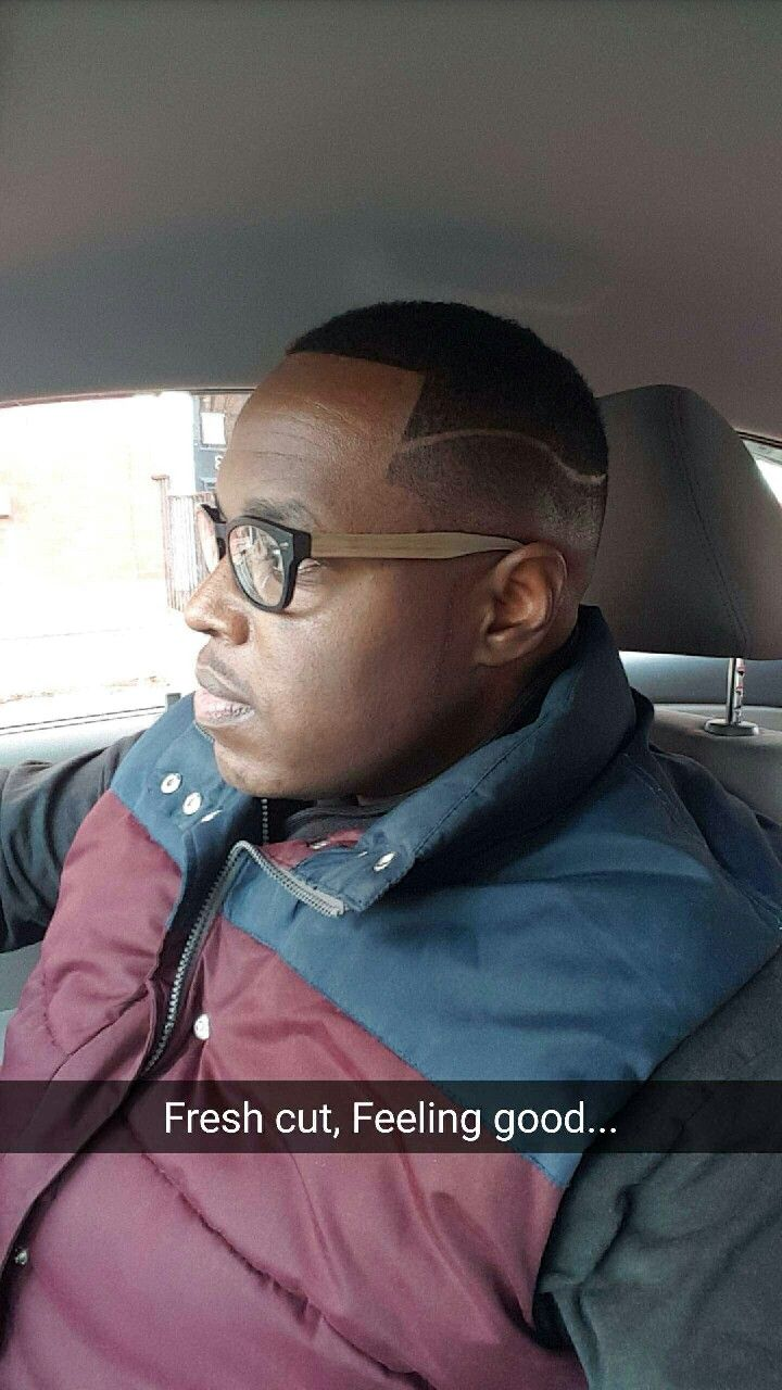 Haircuts for men with glasses fade with side part  black men haircuts  pinterest  black men