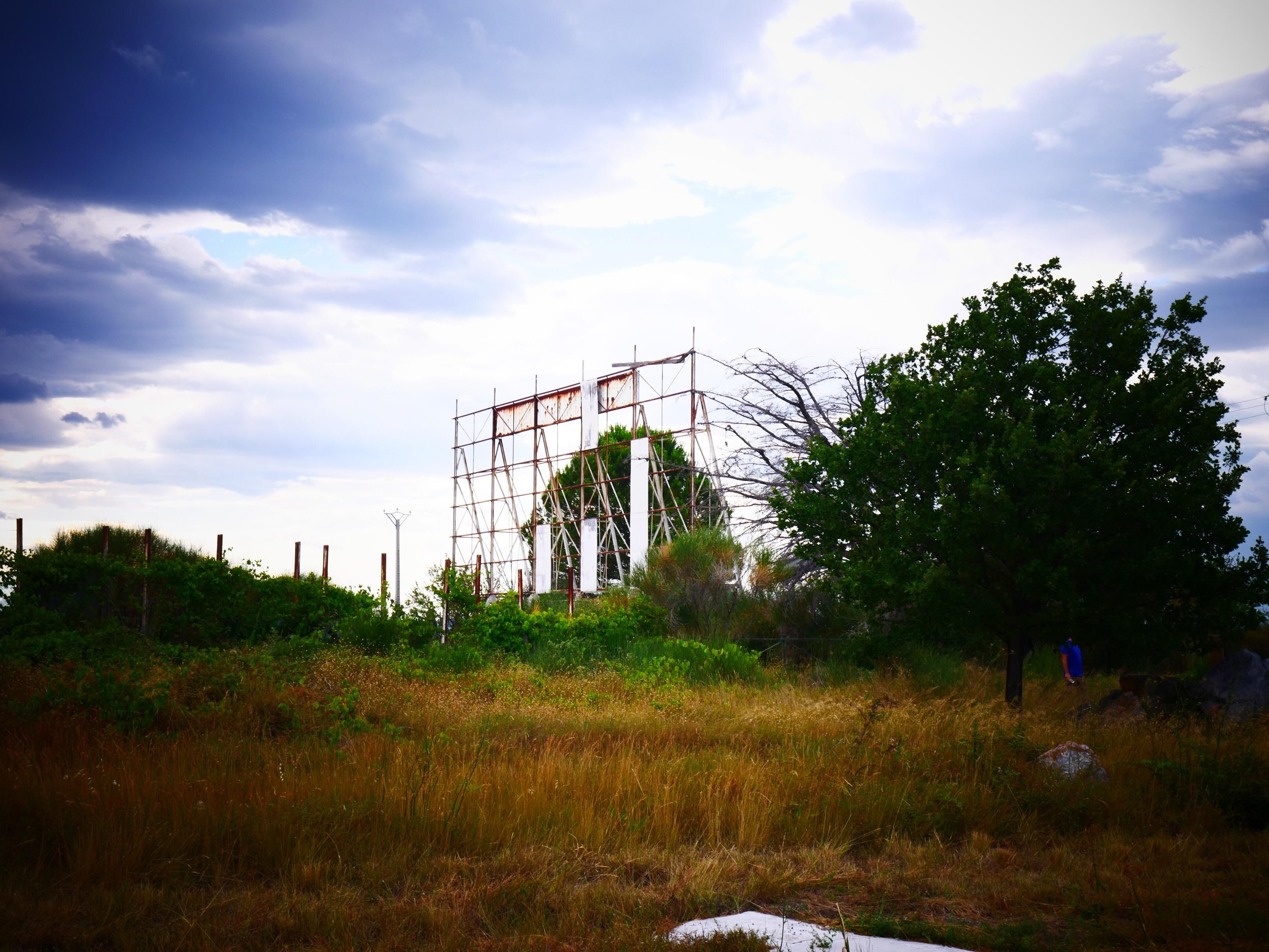 Abandoned drive in cinema in the south of france oc