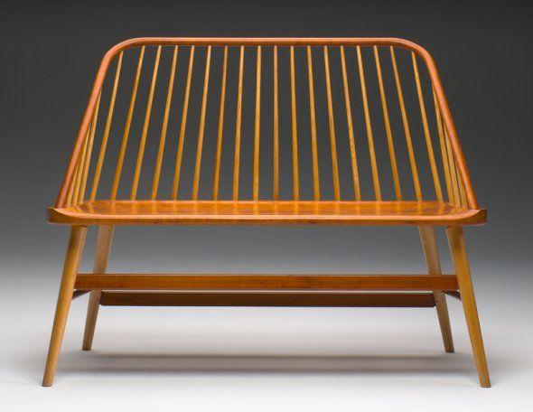 Shaker Stuhl bowback bench modern shaker furniture cherry with ash spindles