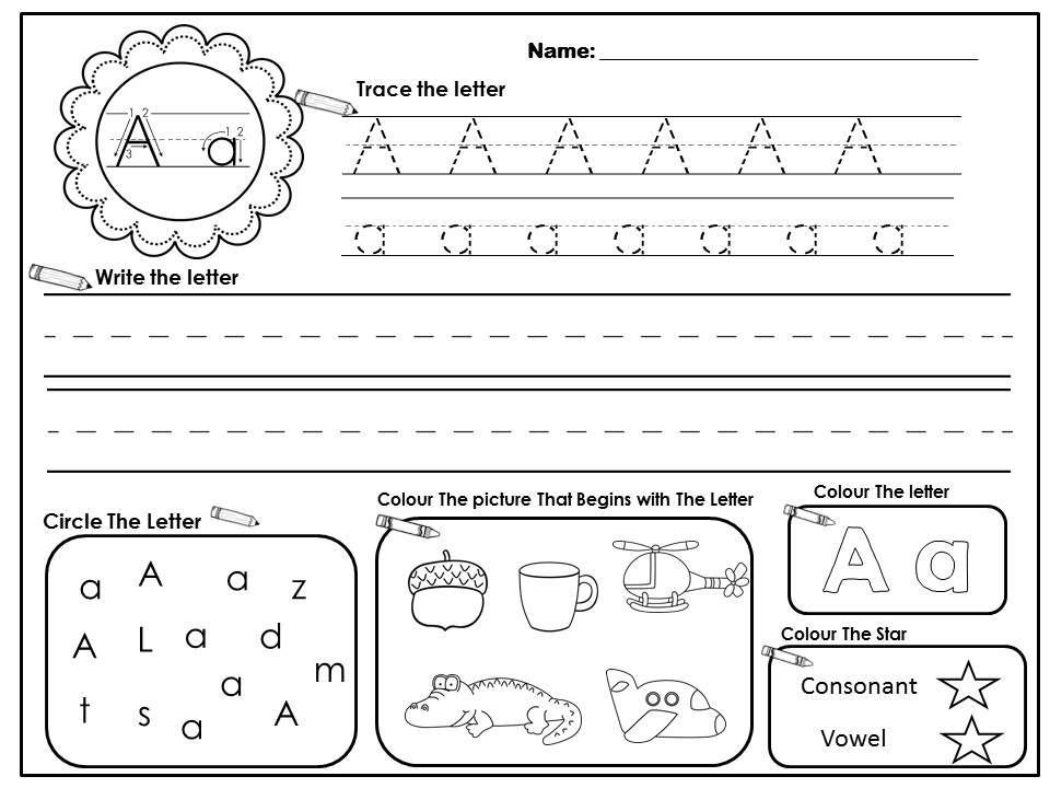 Check Out These Alphabet Worksheets! Great Literacy Centers, Independent  Work, Morning… Kindergarten Letters, Letter Recognition, Letter  Recognition Kindergarten