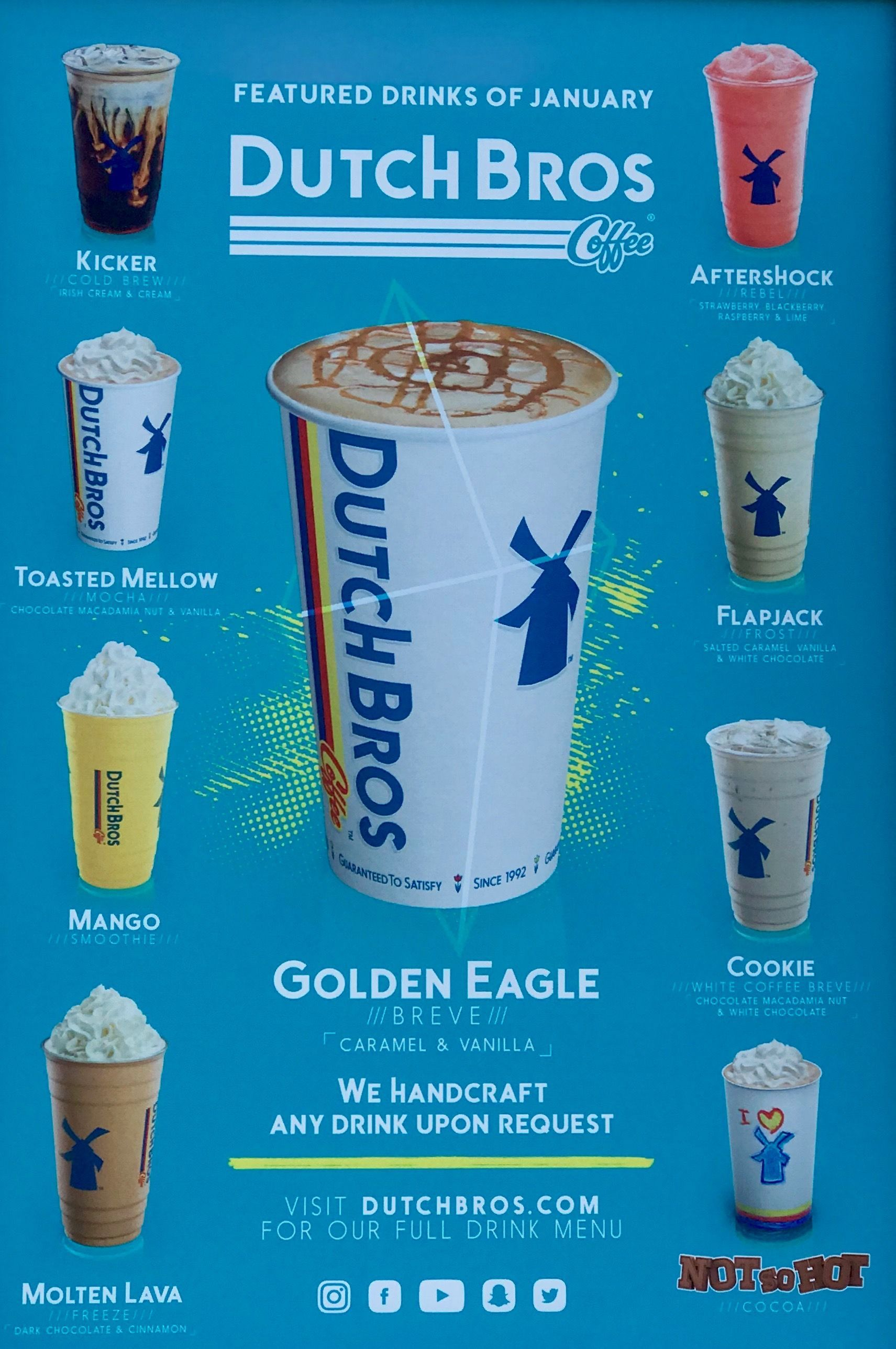 Db January Dutchbros Dutch Bros Drinks Dutch Bros Secret Menu Dutch Bros
