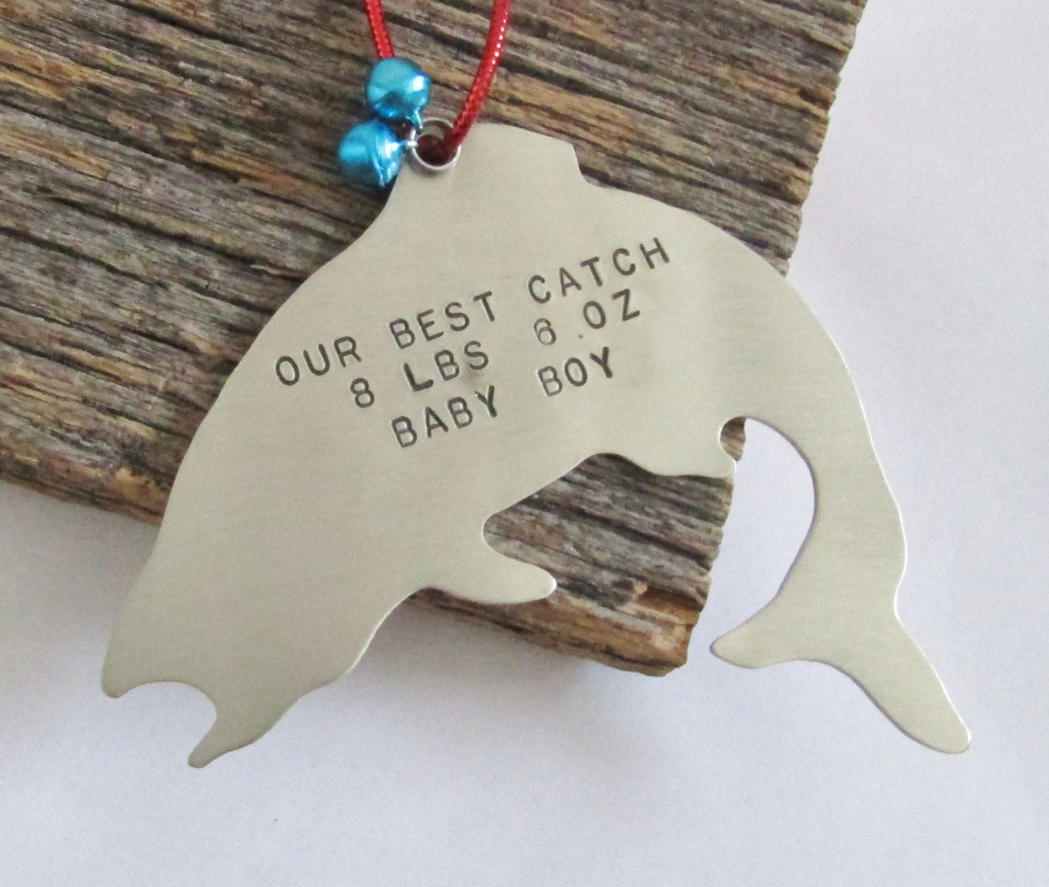 New baby christmas ornament - Personalized Christmas Ornament Fishing Ornament New Baby Ornament Baby S 1st Christmas Ornament Baby Weight Baby Stats Baby Name Ornaments