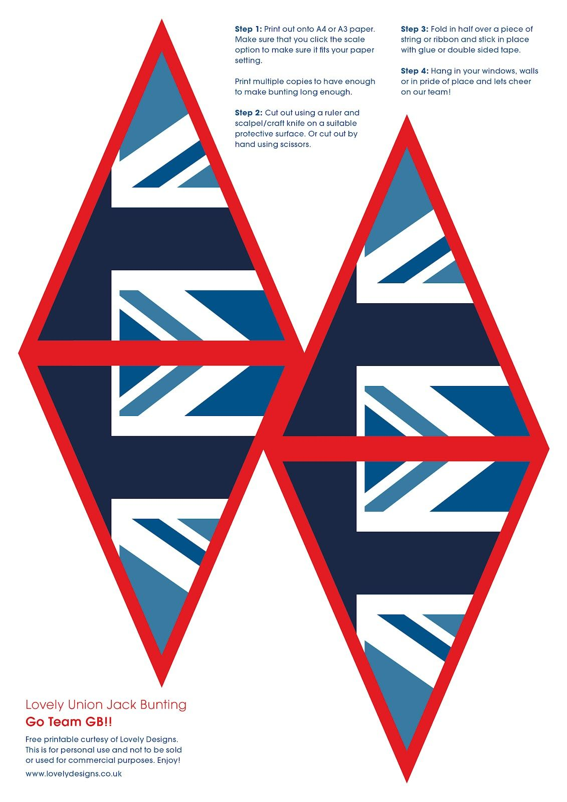 Union Jack Bunting Template. union jack template 2 engels vo ...