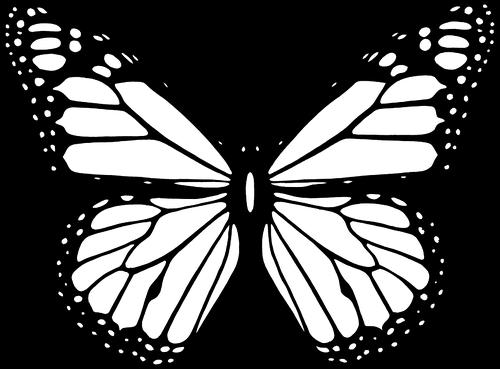 Vektor Kucuk Resim Ile Genis Siyah Beyaz Kelebek Kanatlarini Halka Acik Vektorler Boyama Sayfalari Kelebekler Resim
