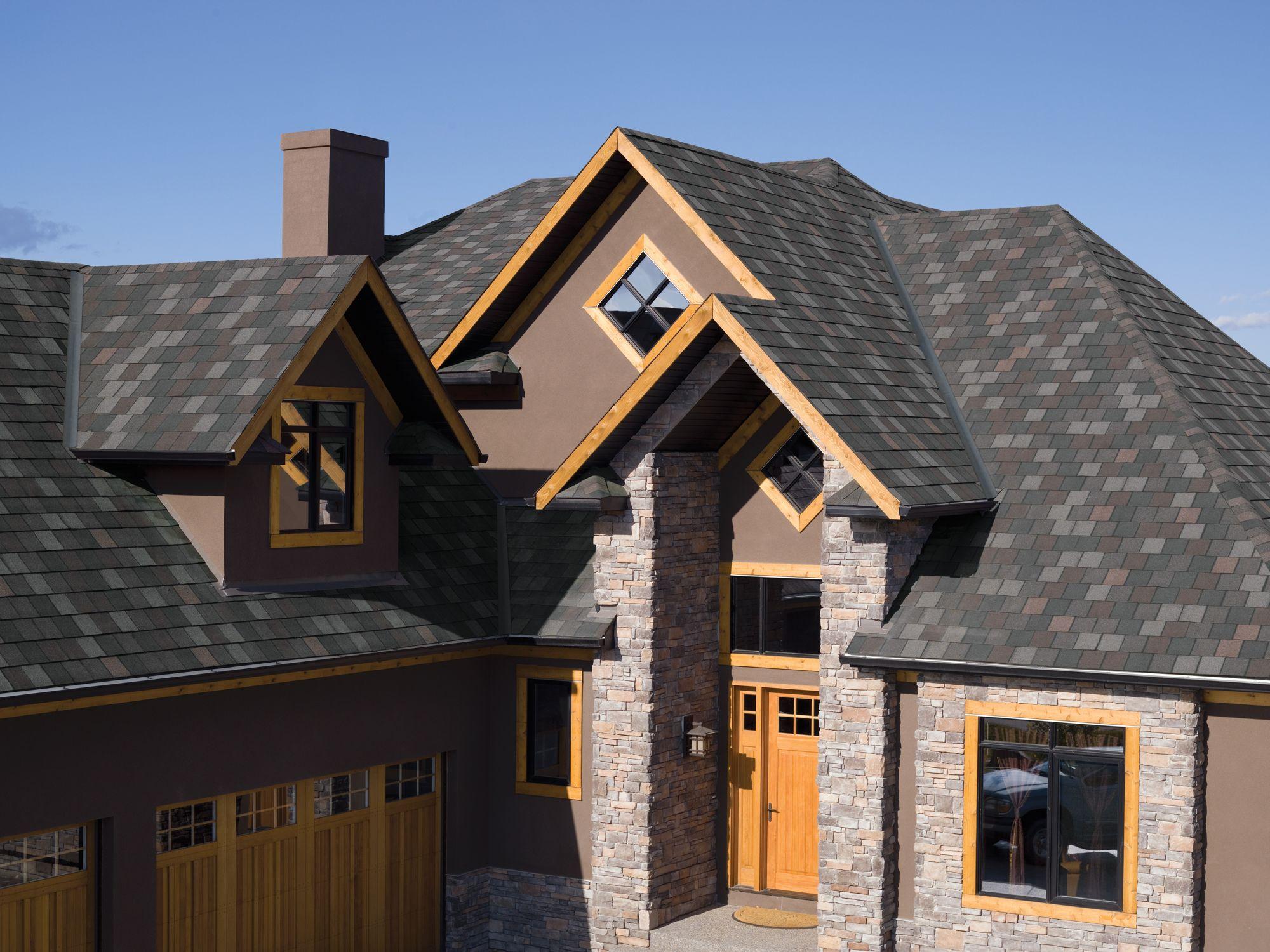Iko Crowne Slate Royal Granite Designer Asphalt Roofing Shingle In 2020 Gable Roof Design Residential Roofing Shingles Fibreglass Roof