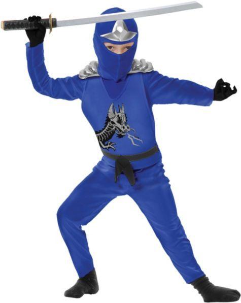 Boys Blue Ninja Avenger Costume Deluxe - Party City | Halloween ...