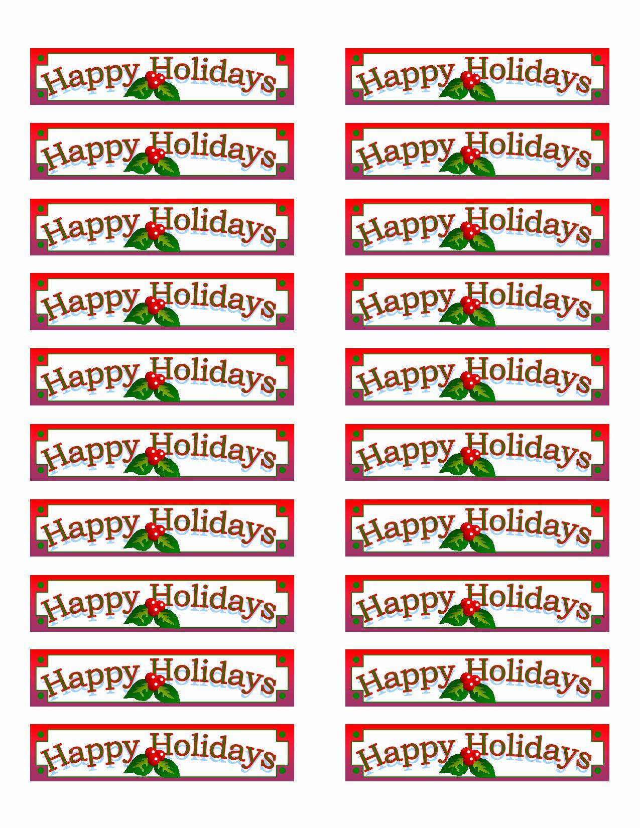 Christmas Address Label Template Free Fresh Free Printable