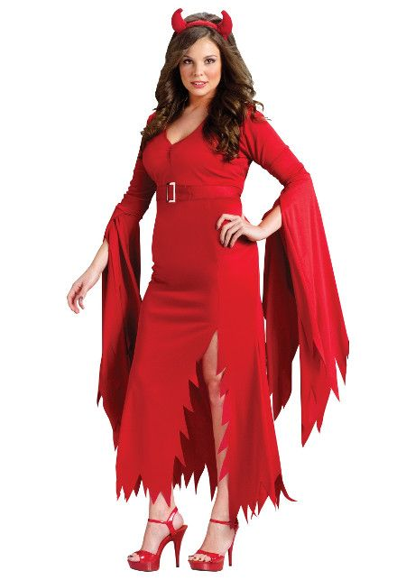 Plus Gothic Devl Costume Plus Size Halloween Costumes Pinterest - halloween costume ideas plus size
