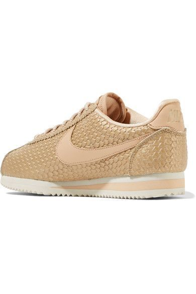 b7b464ab45de Nike - Cortez SE metallic lizard-effect faux leather sneakers ...