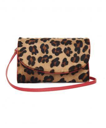 Red Trim Leopard Lilah Bag