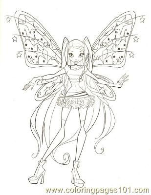 free printable coloring image Fairy 1 (51) | Coloring Pages Deaux ...