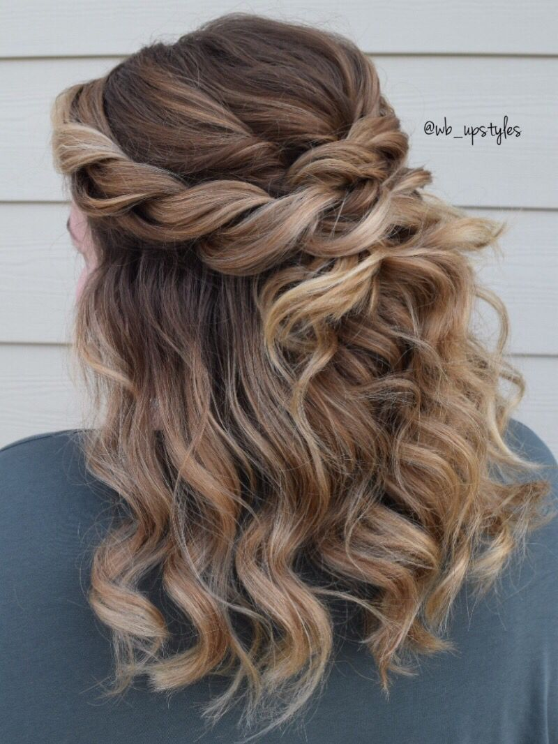 Beautiful Halfup Hairstyle Half Updo Hairstyles Braided Half Updo Hair Styles