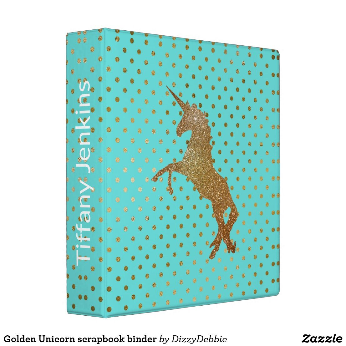 Golden Unicorn Scrapbook Binder