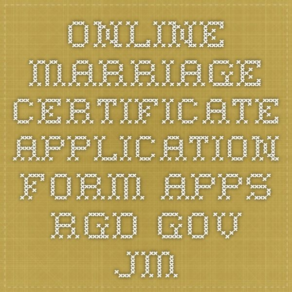 Online Marriage Certificate Application Form Appsrgd