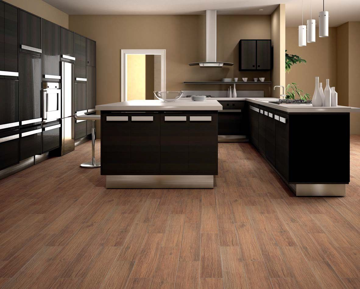 Image of: Ceramic Tile Looks like Wood for Kitchen | Kitchen Ideas ...