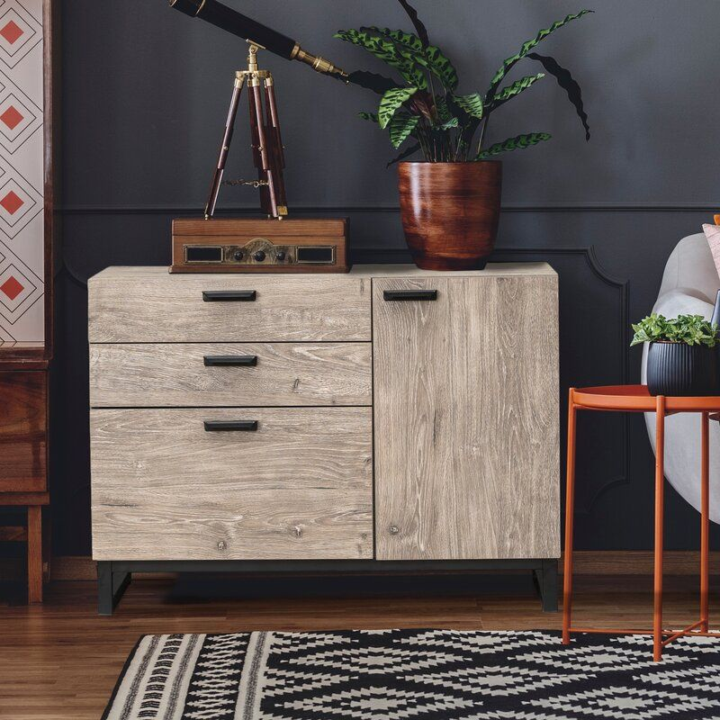Maud 31 5 Wide 3 Drawer Sideboard Bedside Table Storage Furniture Sideboard Table