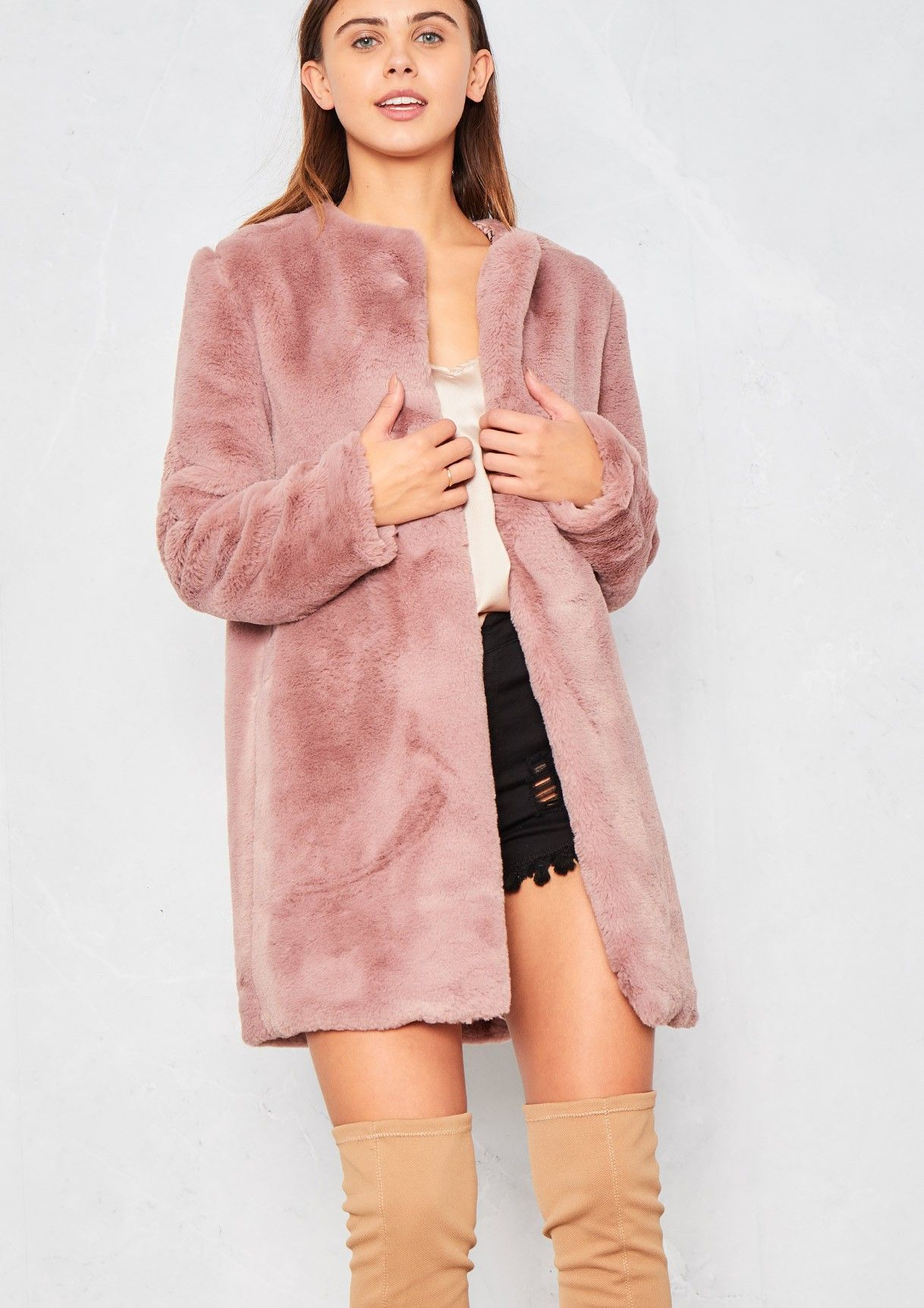 Giovanna Pink Faux Fur Coat | Wardrobe Wishlist | Pinterest | Fur ...