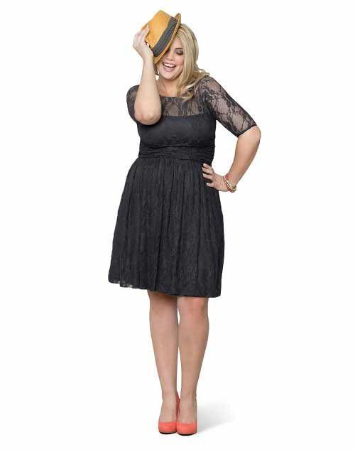 plus size black lace dress | Exciting plus size lace dresses with ...