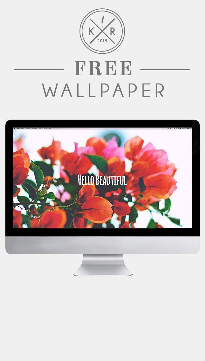 Hello beautiful flower floral wallpaper background for - Flower wallpaper macbook ...