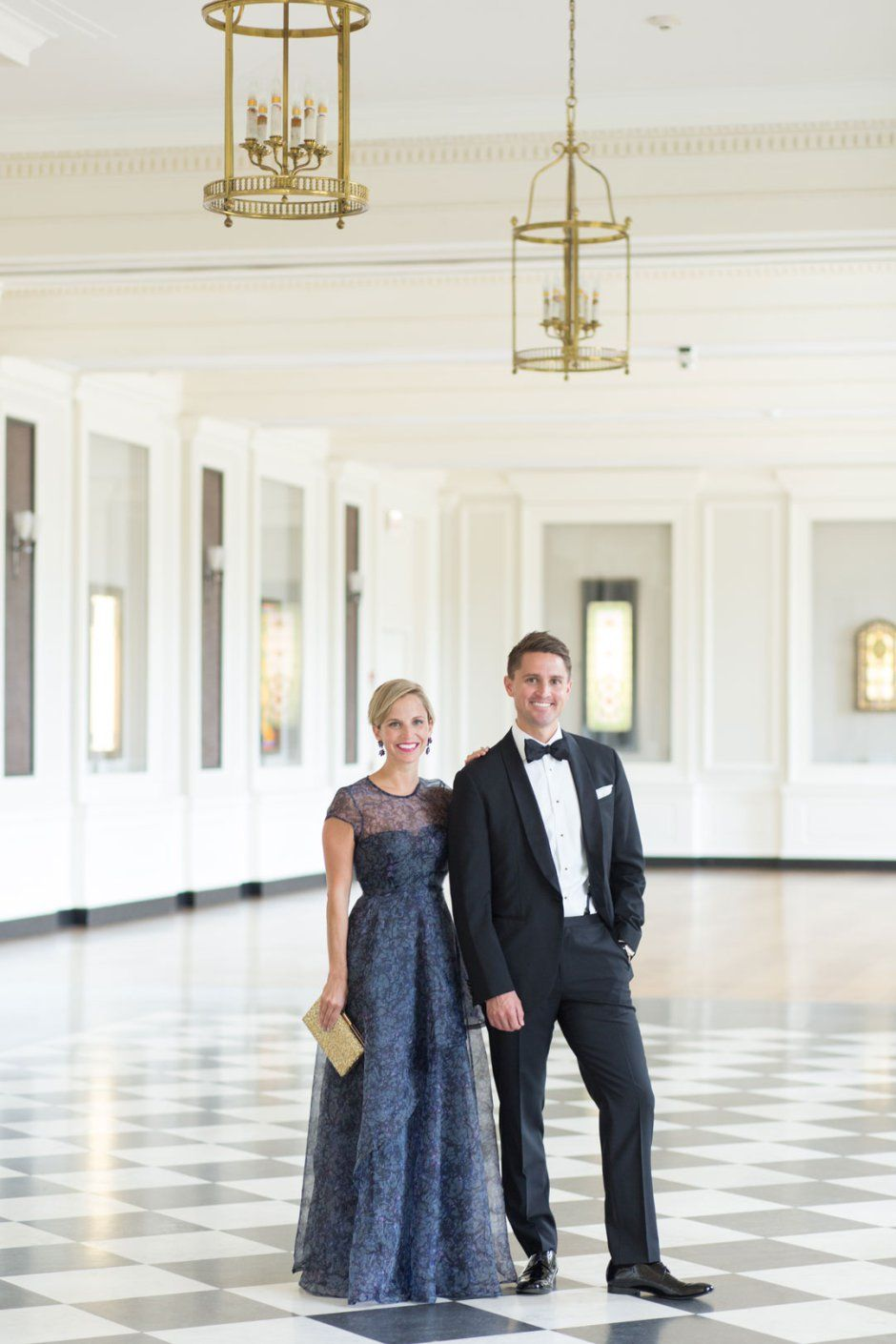 45307b7128 His and Hers Fashion Style for a Black Tie Wedding    Photo by Jennifer  Kathryn Photography