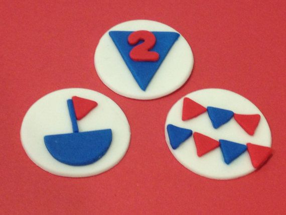 Sailor Birthday Fondant Cupcake Toppers by SweetsbyMegan on Etsy, $16.00
