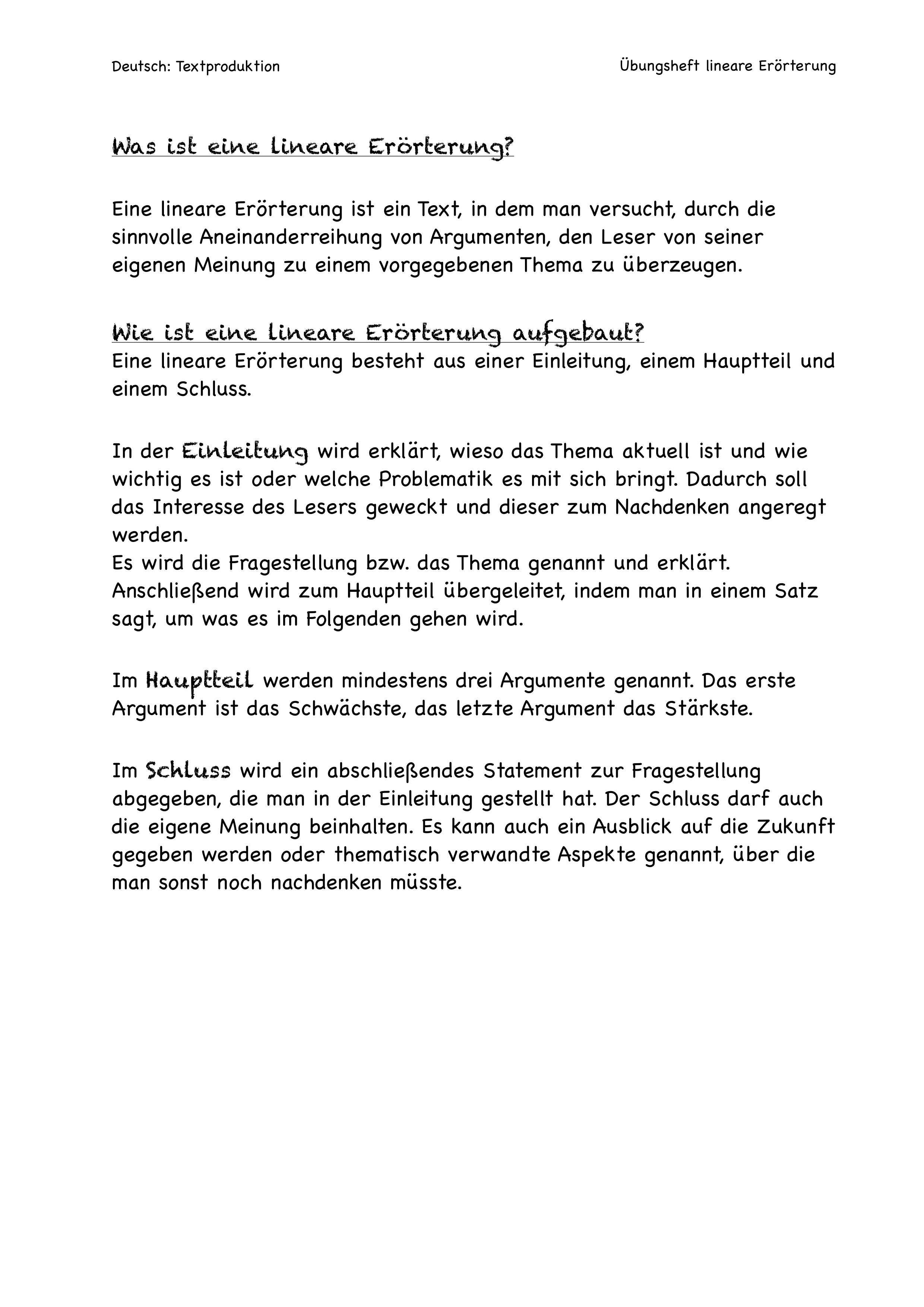 Deutsch Textproduktion Erorterung Trainingsheft Zum Teilen Unterrichtsmaterial Im Fach Deutsch In 2020 Deutsch Unterricht Erorterung Soziales Lernen