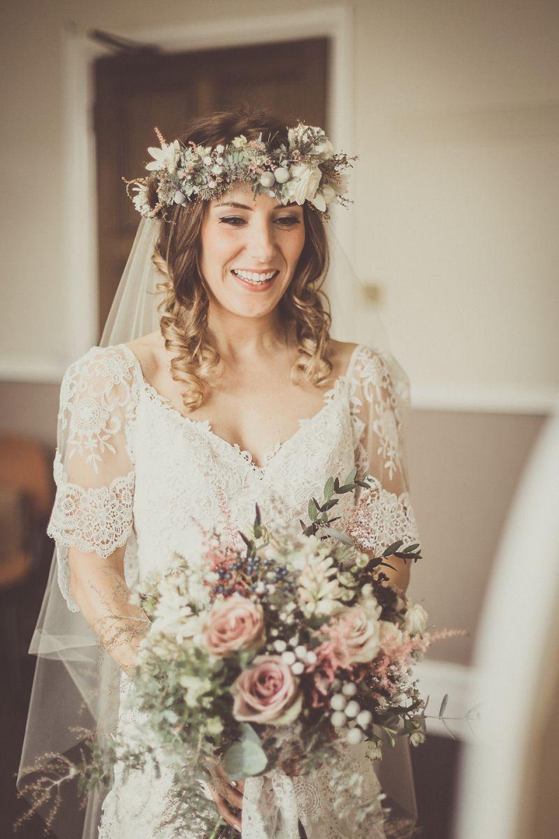 kinkell gown barn bride lewis diy elegant wedding rustic stuart scotland with in rooftop elizabeth for byre dress barns mosaic tweed whimsical at blush coastal rosemary yvonne suits