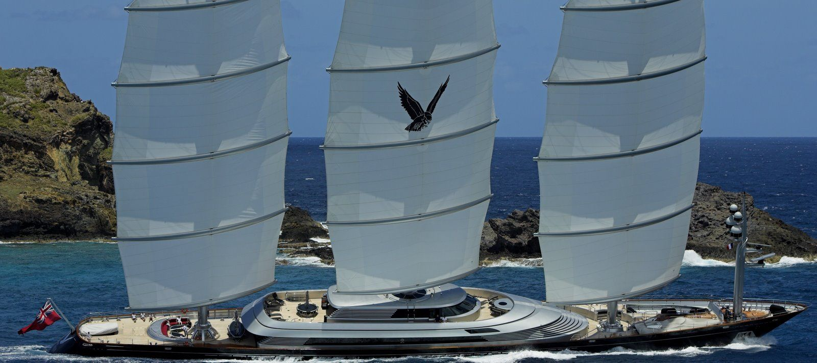 Maltese Falcon By Perini Navi 289 Feet One Of The Largest And The Most Expensive Sailing Yacht In The World Cost Usd 160 Mi Bateaux De Luxe Voilier Bateaux
