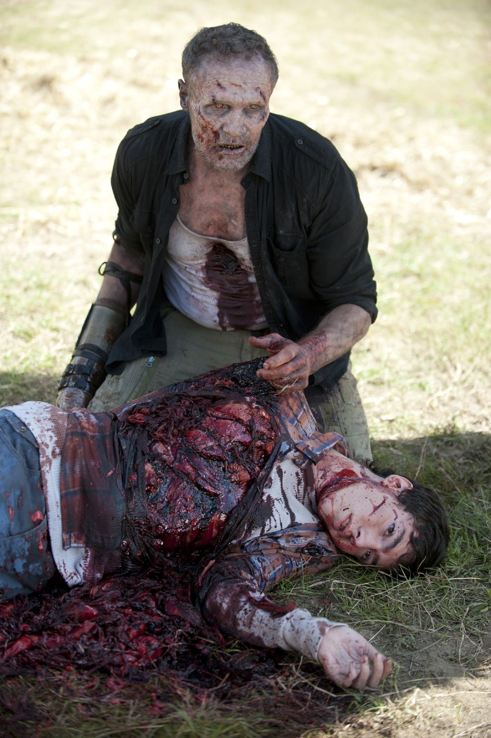 One of the saddest walking dead moments; when Darryl finds his brother as a zombie.