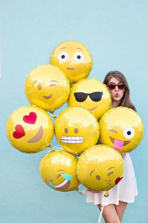 Emoji Balloons Love 18 Yellow Geburtstag 30 Geburtstag