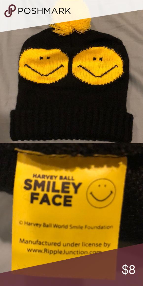 Urban Outfitters Smiley Face Beanie Beanie Urban Outfitters Accessories Urban Outfitters